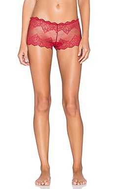 Only Hearts So Fine Lace Hipster in Garnet