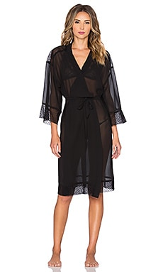Only Hearts Coucou Lola Midi Kimono in Black