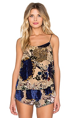 Only Hearts Velvet Devore Cami in Floral Velvet Burnout