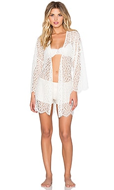 Only Hearts Darling Kimono in White