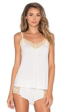 Only Hearts Venice Low Back Cami in Antique White & Yellow