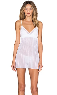 Sweet Heart Babydoll & G-String Set en Blanc