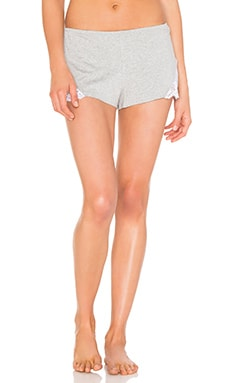 So Fine with Lace Sleep Short in Heather Grey & White