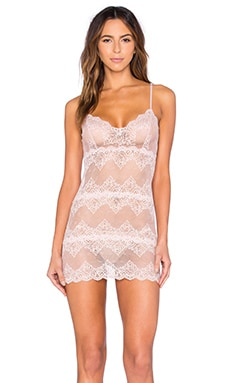 So Fine Lace Chemette in Nudie
