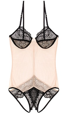 Only Hearts Whisper Sweet Nothings Coucou Bodysuit in Nude & Black