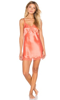 Only Hearts Silk Charmeuse Mini Slip in Papaya