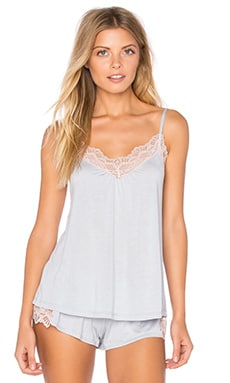 Venice Low Back Cami in Silver & Petal