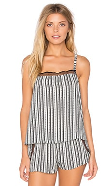 Railroad Stripe Square Neck Cami