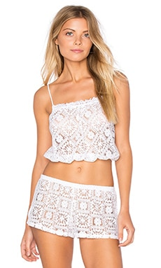 Lisbon Lace Crop Cami in White