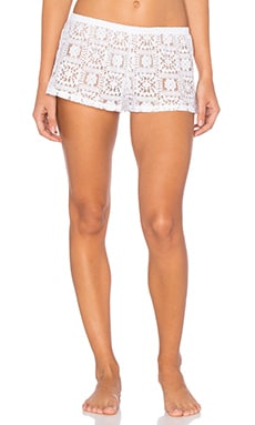 Lisbon Lace Sleep Short en Blanco