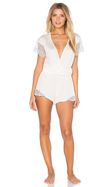 Venice Playsuit in Antique White & Silver
