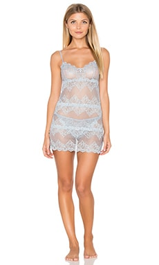 Only Hearts So Fine Lace Chemette in Silver Blu