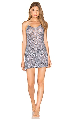Python Stretch Lace Chemise in Print