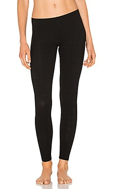 French Terry Poor Boy Rib Legging in Black