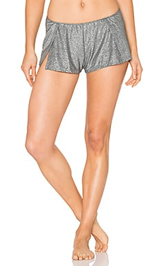 Metallic Jersey Sleep Shorts in Gunmetal