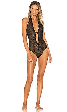 Bardot Halter Bodysuit in Black