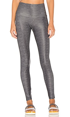 High Rise Legging in Charcoal Snake