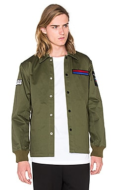 Opening Ceremony Symphony Patch Coach Jacket in Army Green Multi