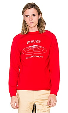 Opening Ceremony Debussy Raglan Sweatshirt in Red Multi