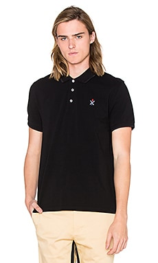 Opening Ceremony Torch Classic Fit S/S Polo en Noir