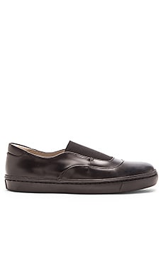 Opening Ceremony Shiny Leather Mason Slip On Sneaker in Black