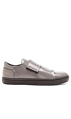 Opening Ceremony Shiny Leather OC Velcro Sneaker in Eiffel Grey