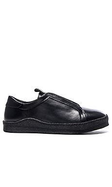 Opening Ceremony Smooth Calf Leather Crepe Sole Sneaker in Black