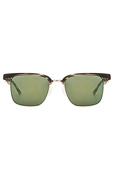 Oliver Peoples WEST Ajax Sunglasses in Smoke Tortoise & Brushed Silver