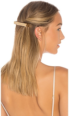Geometric Gold Plated Metal Barrette