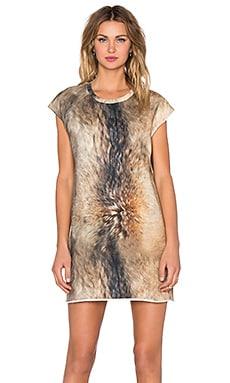OSKLEN Raposa Mini Dress in Caramel & Brown