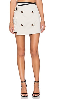 OSKLEN Double Pocket Mini Skirt in Chino & Black