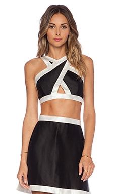 OSKLEN Crop Top in Black & Off White
