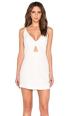 OSKLEN V Neck Tank Dress in Off White