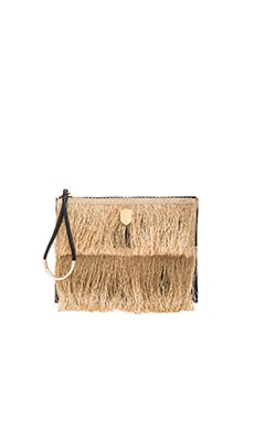 Fringe Clutch in Natural