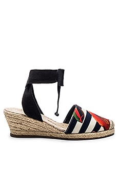 OSKLEN Flower Stripe Heeled Espadrille