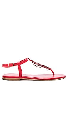 Palm Tree Sandal in Red