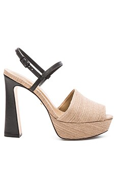 OSKLEN Open Toe Platform in Natural