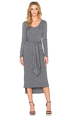 Otis & Maclain Parker Long Sleeve Dress in Heather Ribbed