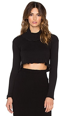 Otis & Maclain Liz Turtleneck Sweater in Black Ribbed