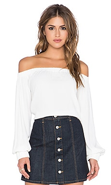 Otis & Maclain Senorita Long Sleeve Blouse in White