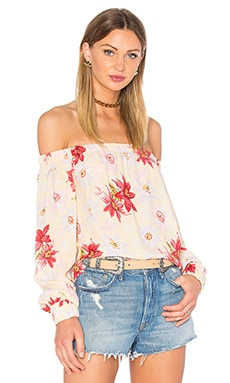 Otis & Maclain Senorita Long Sleeve Blouse in Lemon Floral