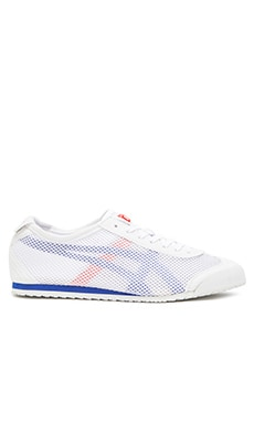 Onitsuka Tiger Platinum Mexico 66 in White Strong Blue
