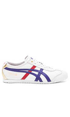 Onitsuka Tiger Platinum Mexico 66 in White Dark Blue
