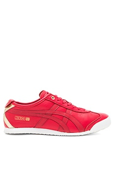 Onitsuka Tiger Platinum Mexico 66 in Red Red