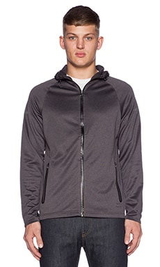 ourCASTE Pluto Tech Jacket in Heather Black