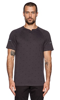 ourCASTE Ares Tee in Black Cross