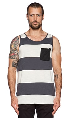 ourCASTE Loren Tank in Salt Stripe