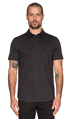 ourCASTE Craig Button Down in Grey Black