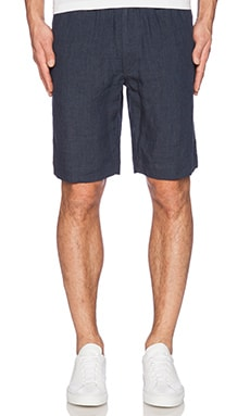 Our Legacy Relaxed Linen Short in Navy