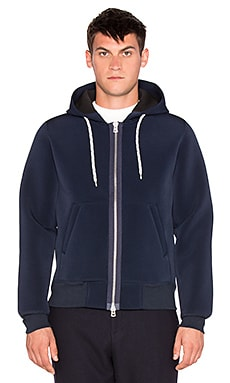 Our Legacy Full Zip Scuba Hoody in Marine